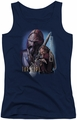 Farscape juniors tank top D'Argo navy