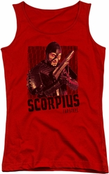 Farscape juniors tank top Scorpius red