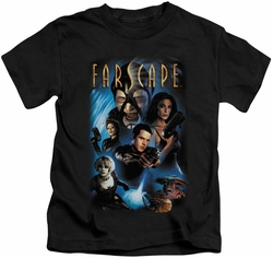 Farscape kids t-shirt Comic Cover black