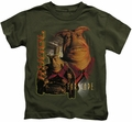 Farscape kids t-shirt Rygel military green