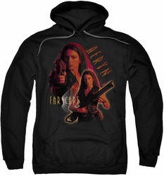 Farscape pull-over hoodie Aeryn adult black