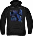 Farscape pull-over hoodie Blue And Bald adult black