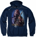 Farscape pull-over hoodie D'Argo adult navy