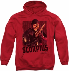 Farscape pull-over hoodie Scorpius adult red