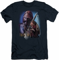 Farscape slim-fit t-shirt D'Argo mens navy
