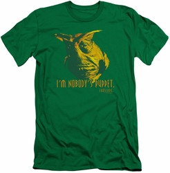 Farscape slim-fit t-shirt Nobodys Puppet mens kelly green