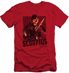 Farscape slim-fit t-shirt Scorpius mens red