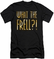 Farscape slim-fit t-shirt What The Frell mens black