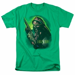 Farscape t-shirt D'Argo Warrior mens kelly green