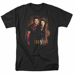 Farscape t-shirt Wanted mens black