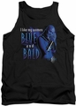 Farscape tank top Blue And Bald mens black