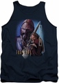 Farscape tank top D'Argo mens navy