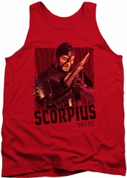 Farscape tank top Scorpius mens red