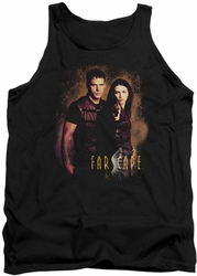 Farscape tank top Wanted mens black