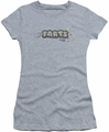 Farts Candy juniors t-shirt Finger Logo athletic heather