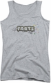 Farts Candy juniors tank top Finger Logo athletic heather