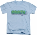 Farts Candy kids t-shirt Logo light blue