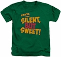 Farts Candy kids t-shirt Silent But Sweet kelly green