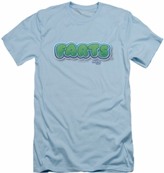 Farts Candy slim-fit t-shirt Logo mens light blue