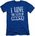 Farts Candy slim-fit t-shirt Tasty Farts mens royal blue