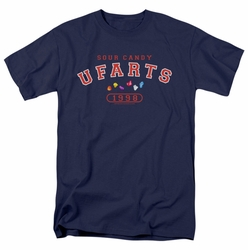 Farts Candy t-shirt Fart University mens navy