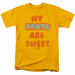 Farts Candy t-shirt Sweet Farts mens gold