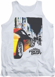 Fast and Furious Tokyo Drift tank top Poster mens white