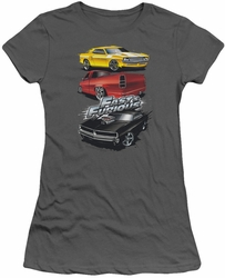 Fast and The Furious juniors t-shirt Muscle Car Splatter charcoal