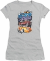 Fast and The Furious juniors t-shirt Smokin Street Cars silver