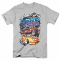 Fast And The Furious t-shirt Smokin Street Cars mens silver