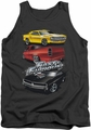 Fast And The Furious tank top Muscle Car Splatter mens charcoal