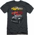 Fast & Furious slim-fit t-shirt Muscle Car Splatter mens charcoal