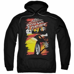 Fast Furious Tokyo Drift pull-over hoodie Drifting Crew adult black