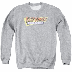 Fast Times Ridgemont High adult crewneck sweatshirt Distressed Logo athletic heather