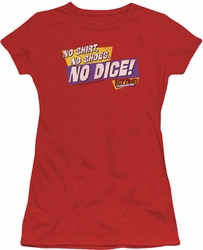 Fast Times Ridgemont High juniors t-shirt No Dice red