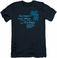 Fast Times Ridgemont High slim-fit t-shirt All I Need mens navy