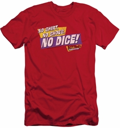 Fast Times Ridgemont High slim-fit t-shirt No Dice mens red