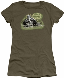 Ferris Bueller juniors t-shirt Mr. Rooney military green