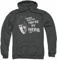 Ferris Bueller pull-over hoodie My Hero adult charcoal