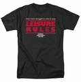 Ferris Bueller t-shirt Leisure Rules mens black