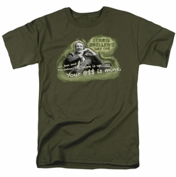 Ferris Bueller t-shirt Mr. Rooney mens military green