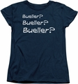 Ferris Bueller womens t-shirt Question navy