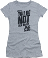 Fight Club juniors t-shirt Rule 1 athletic heather