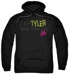 Fight Club pull-over hoodie In Tyler We Trust adult black