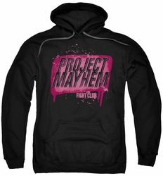 Fight Club pull-over hoodie Project Mayhem adult black