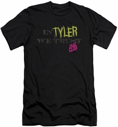 Fight Club slim-fit t-shirt In Tyler We Trust mens black