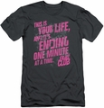 Fight Club slim-fit t-shirt Life Ending mens charcoal