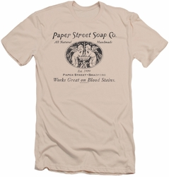 Fight Club slim-fit t-shirt Paper Street mens cream