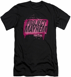 Fight Club slim-fit t-shirt Project Mayhem mens black