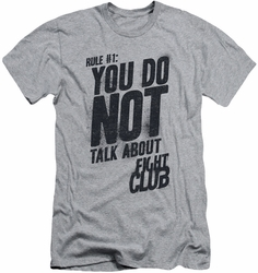 Fight Club slim-fit t-shirt Rule 1 mens athletic heather